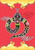 Year of the Snake background