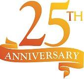 25 Year Ribbon Anniversary