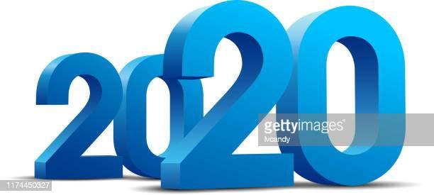 2020 jahr - 2020 stock-grafiken, -clipart, -cartoons und -symbole