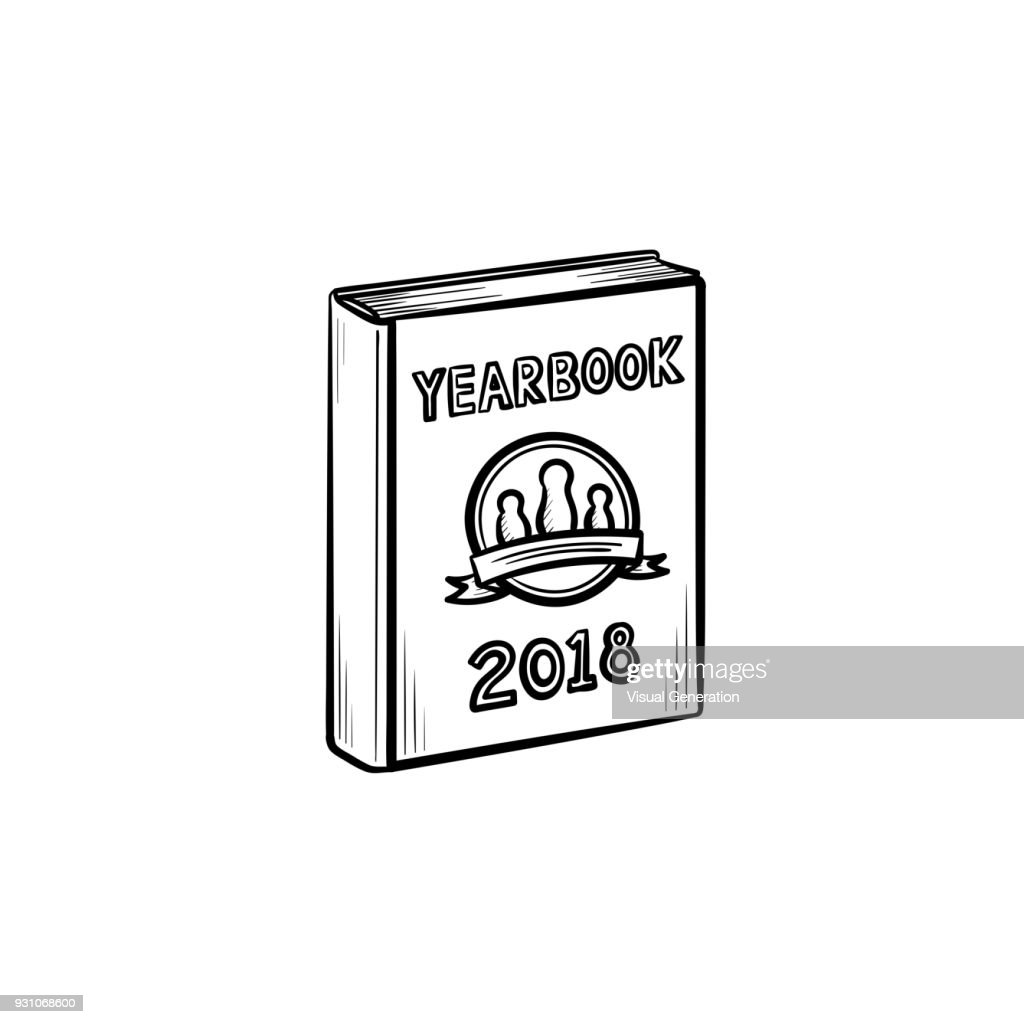 Yearbook hand drawn sketch icon