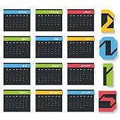 Yearly 2015 calendar design