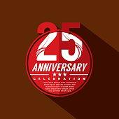 25 Years Anniversary Celebration Design.
