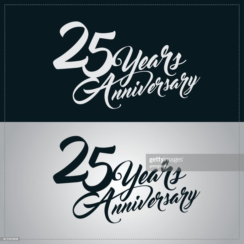 25 years anniversary celebration logotype