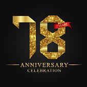 78 years anniversary celebration logotype