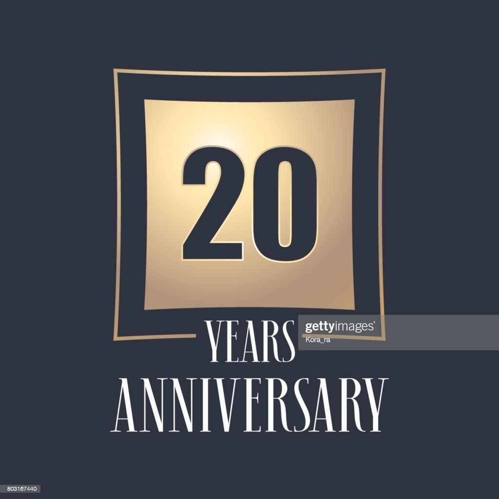 20 Jaar Verjaardag Viering Vector Icon Logo Vectorkunst Getty Images
