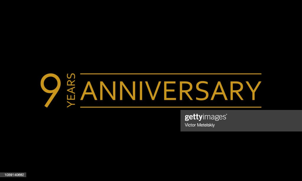 9 years anniversary icon. 9th birthday emblem. Anniversary design element. Vector illustration.