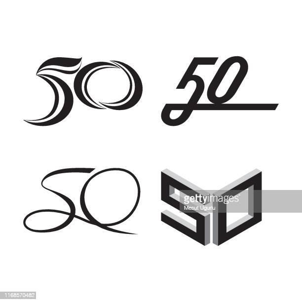創立50周年記念ロゴ - 数字の50点のイラスト素材/クリップアート素材/マンガ素材/アイコン素材
