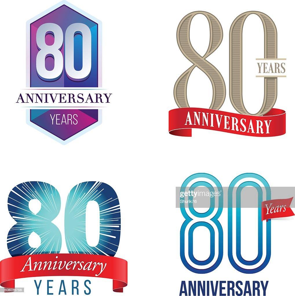 80 Years Anniversary Logo