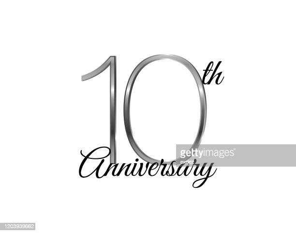 10周年記念銀 - 10th anniversary点のイラスト素材/クリップアート素材/マンガ素材/アイコン素材