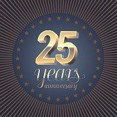 25 years anniversary vector icno