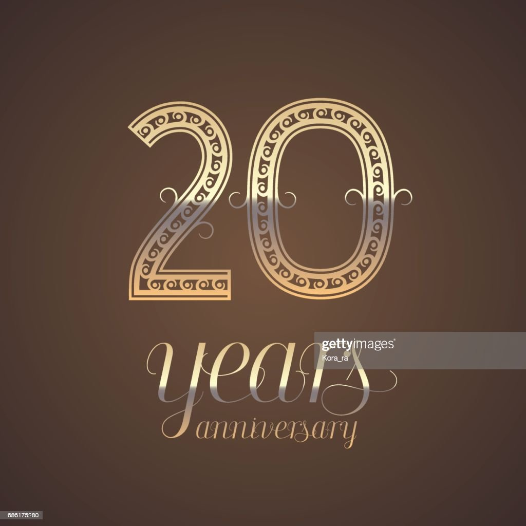 20 Years Anniversary Vector Icon Symbol Vector Art Getty Images