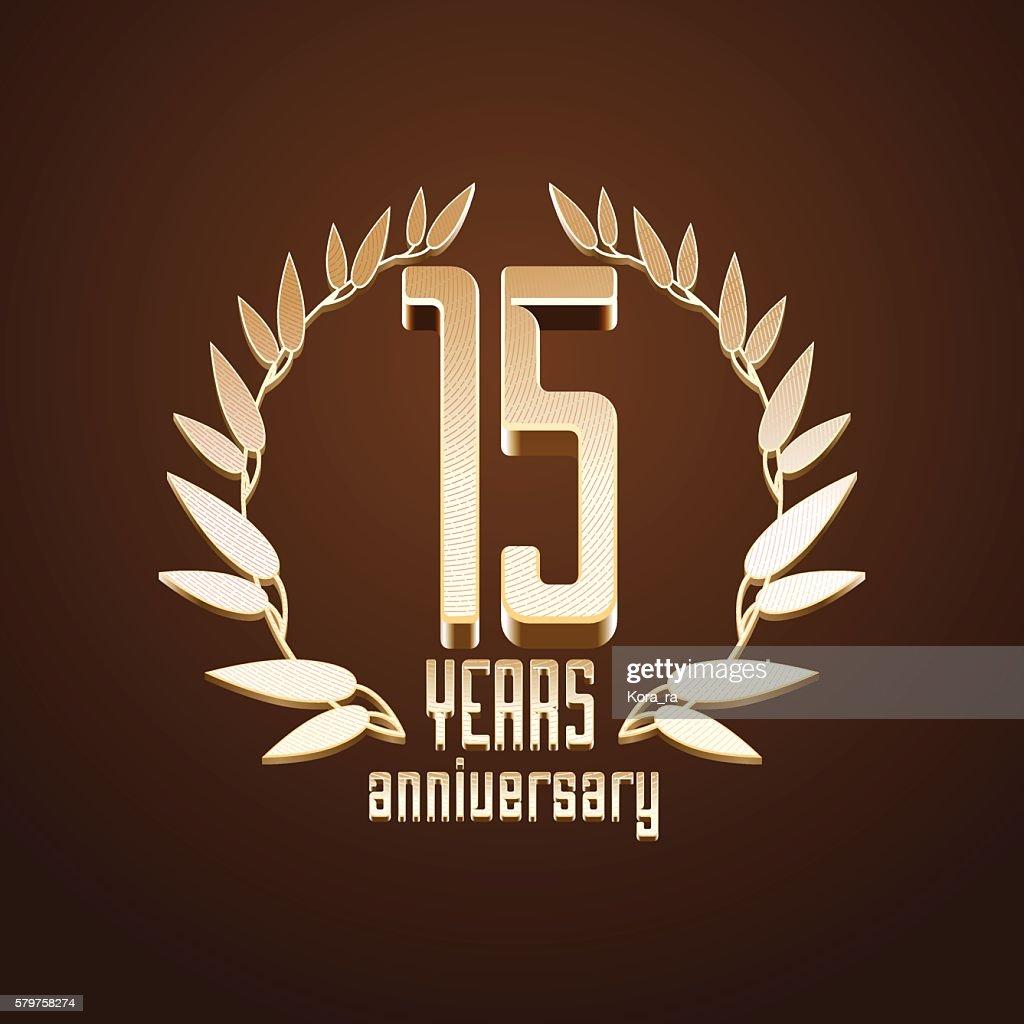 15 years anniversary vector icon