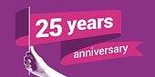 25 years anniversary vector icon