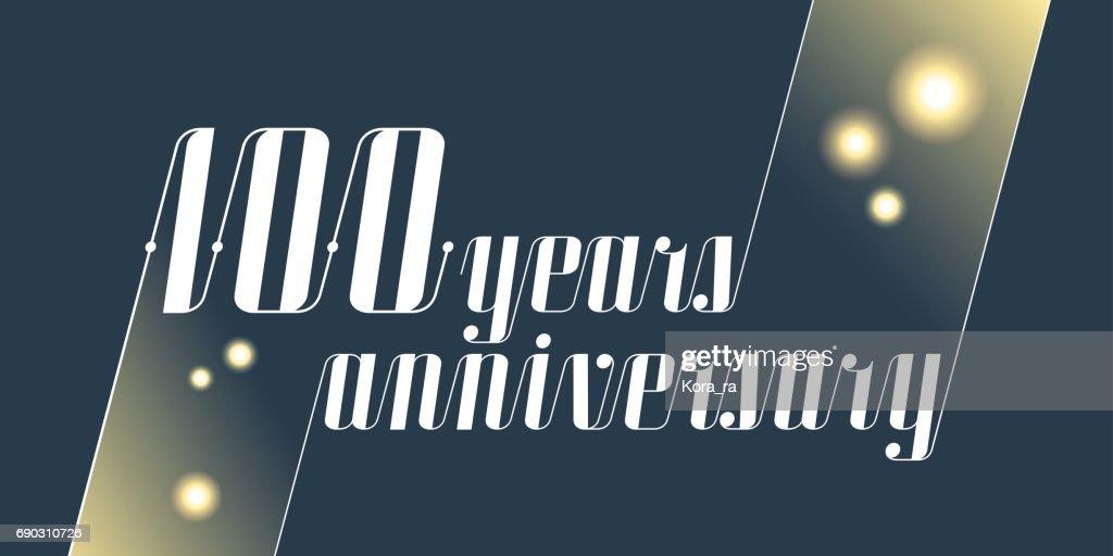 100 years anniversary vector icon