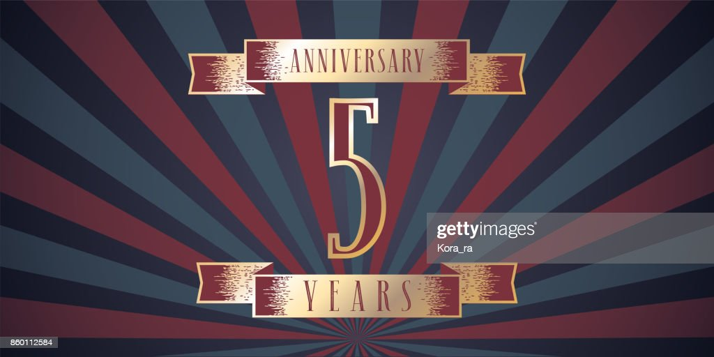 5 Years Anniversary Vector Icon Vector Art Getty Images