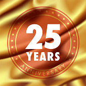 25 years anniversary vector icon