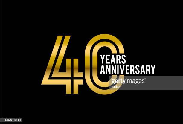 40周年記念 - 40周年点のイラスト素材/クリップアート素材/マンガ素材/アイコン素材