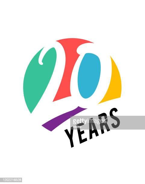 20周年記念 - 数字の20点のイラスト素材/クリップアート素材/マンガ素材/アイコン素材