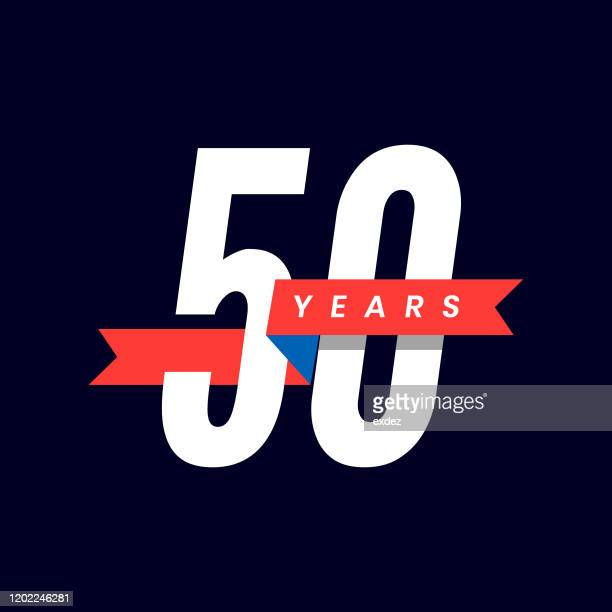 50 years anniversary - anniversary stock illustrations