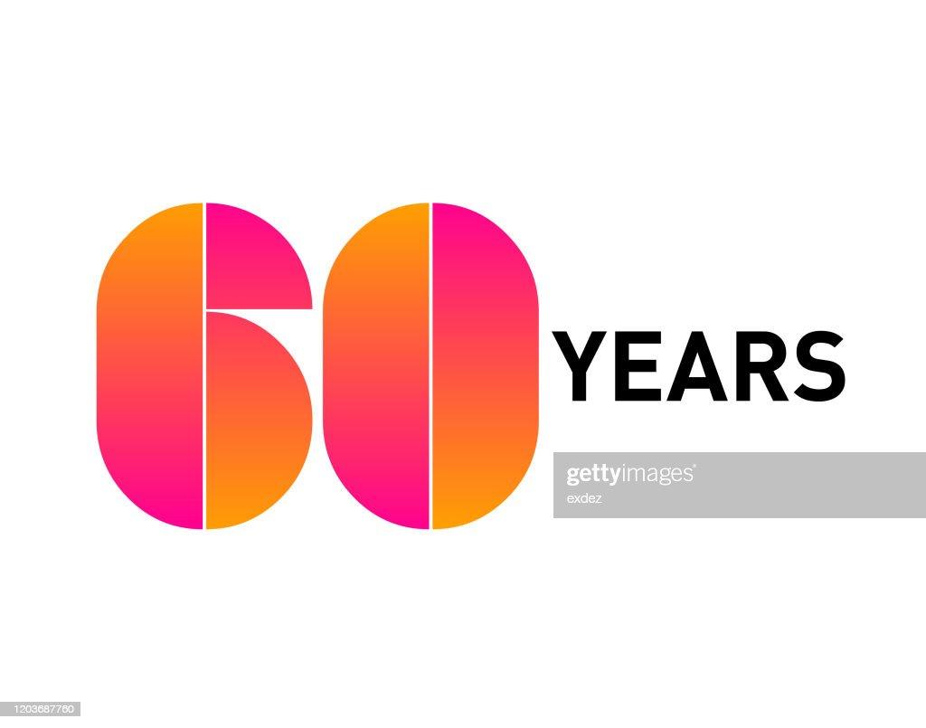 60周年記念 : ストックイラストレーション