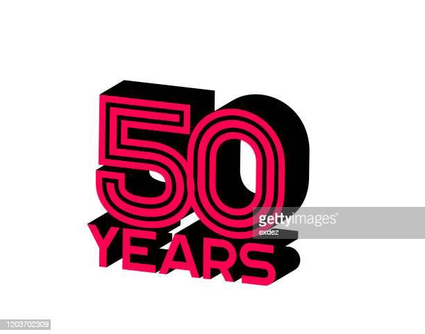 50 years anniversary - anniversary card stock illustrations