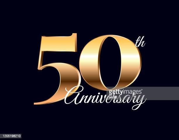 stockillustraties, clipart, cartoons en iconen met 50 jaar verjaardag - 50 jarig jubileum