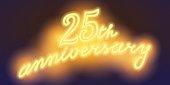 25 years anniversary vector illustration, banner