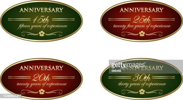 経験高級ビンテージ周年ラベル コレクション - 30周年点のイラスト素材/クリップアート素材/マンガ素材/アイコン素材