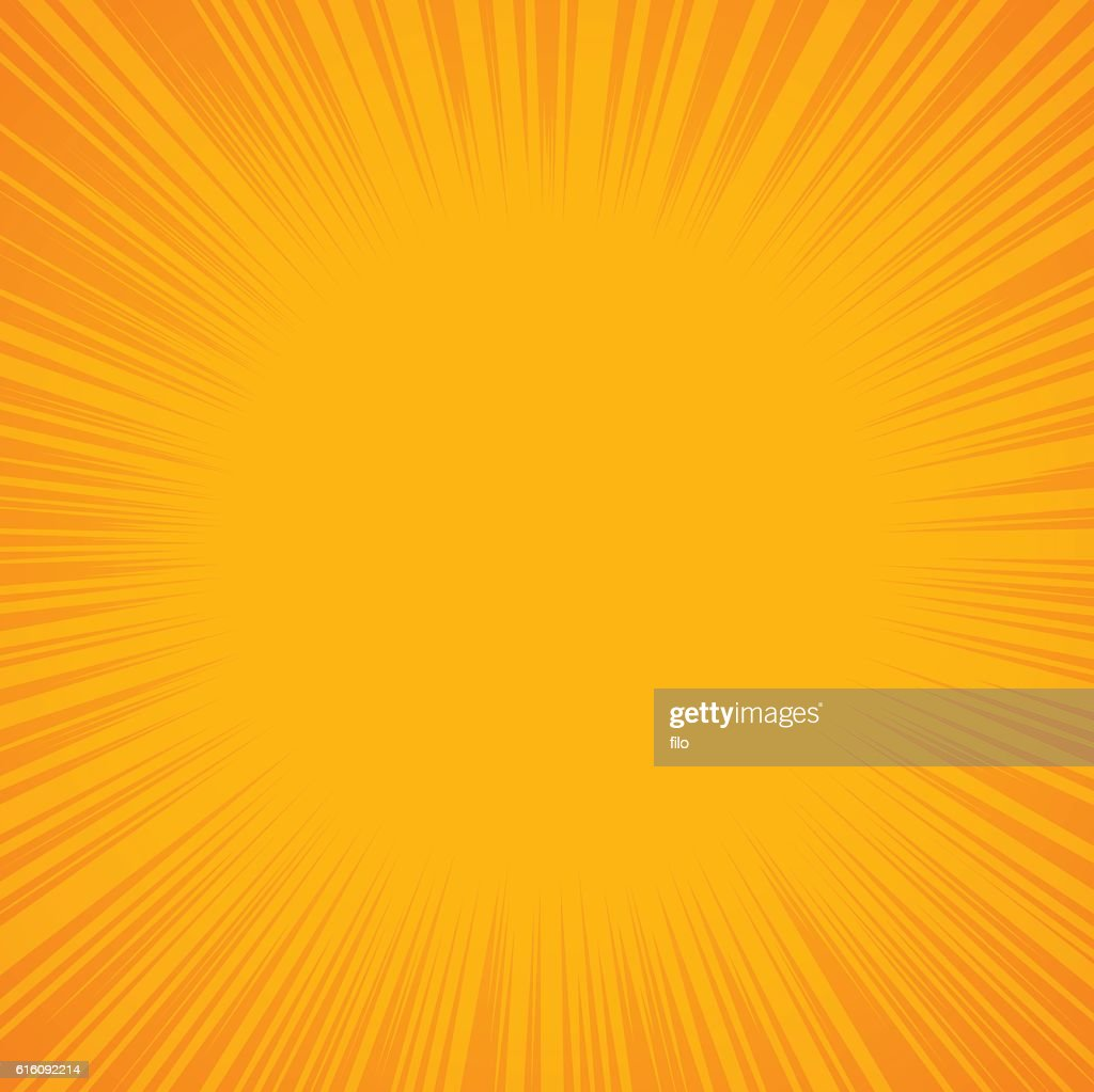Yellow Abstract Burst Background