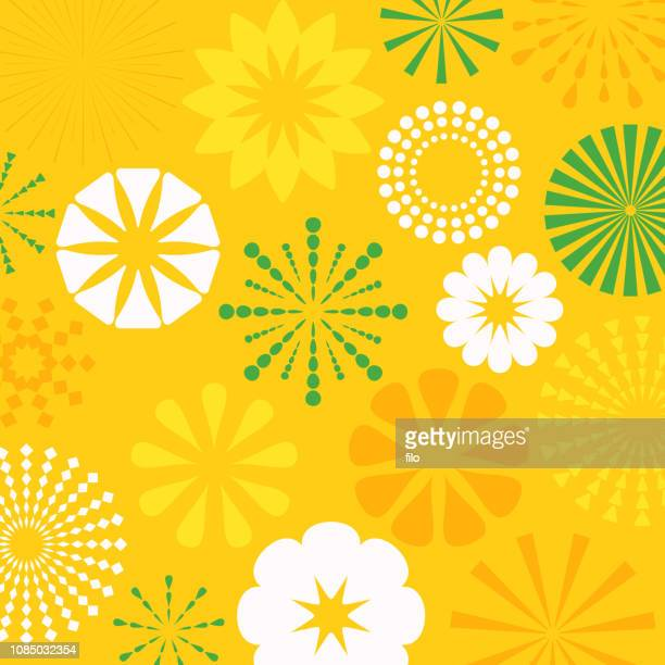 yellow abstract bursts background - springtime stock illustrations