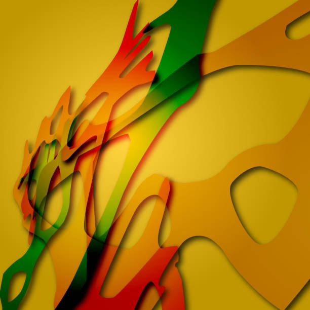 Yellow Abstract Shape Background Wall Art