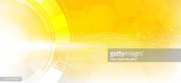 ilustraciones, imágenes clip art, dibujos animados e iconos de stock de amarillo de la placa de circuito de tecnología abstracta - circuito de carreras de coches