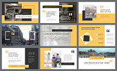 Yellow and black elements for slide templates