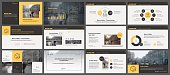 Yellow and grey elements for infographics