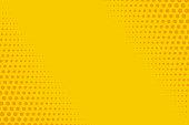 Yellow and orange retro comic background Vector illustration