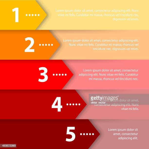 Yellow and red arrow infographic template