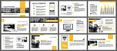 Yellow and white element for slide infographic on background. Presentation template. Use for business annual report, flyer, corporate marketing, leaflet, advertising, brochure, modern style.