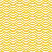 Yellow and white waves seamless pattern