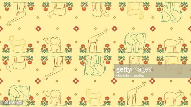 yellow animals pattern