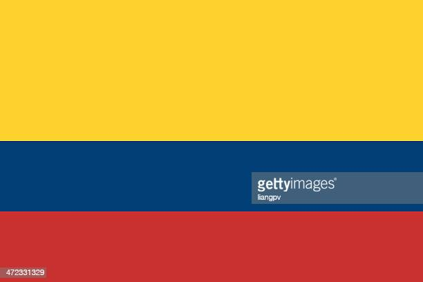 Yellow, blue, and red striped Colombian flag
