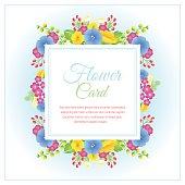 yellow blue flower card