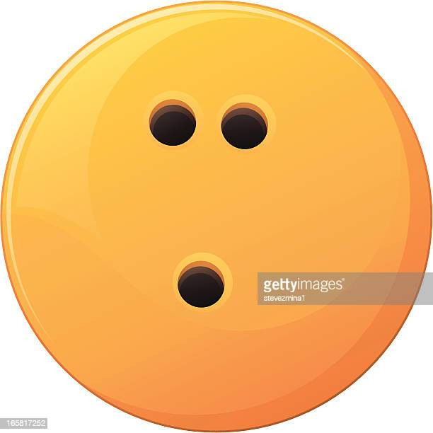 yellow bowling ball - bowling ball stock illustrations, clip art, cartoons, & icons