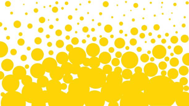 yellow bubbles background - bubble stock illustrations