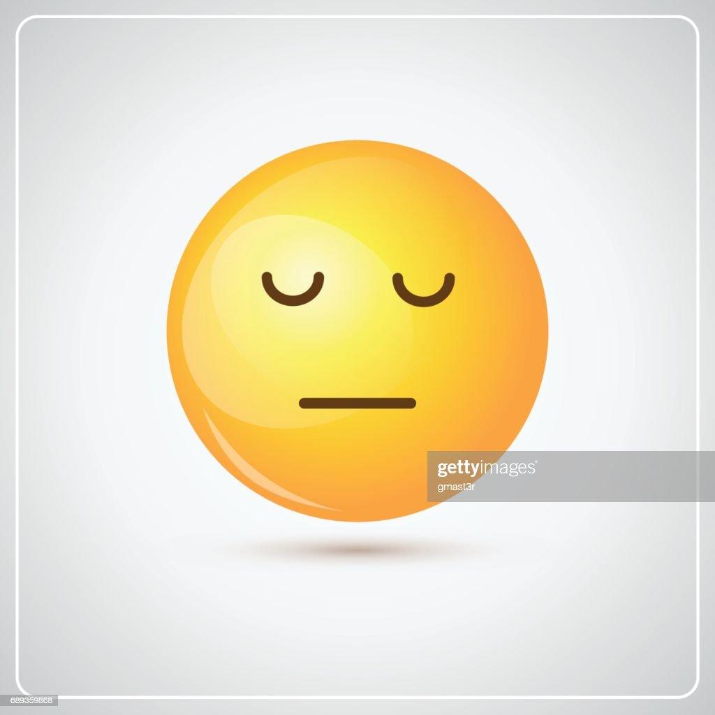 Yellow Cartoon Face Sad Negative People Emotion Icon