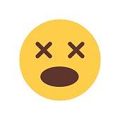 Yellow Cartoon Face Scream Shocked Emoji People Emotion Icon