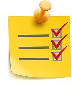 yellow check list