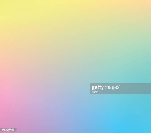 Yellow Cyan Pink Defocus Multi Color Gradient Stock Vector Background