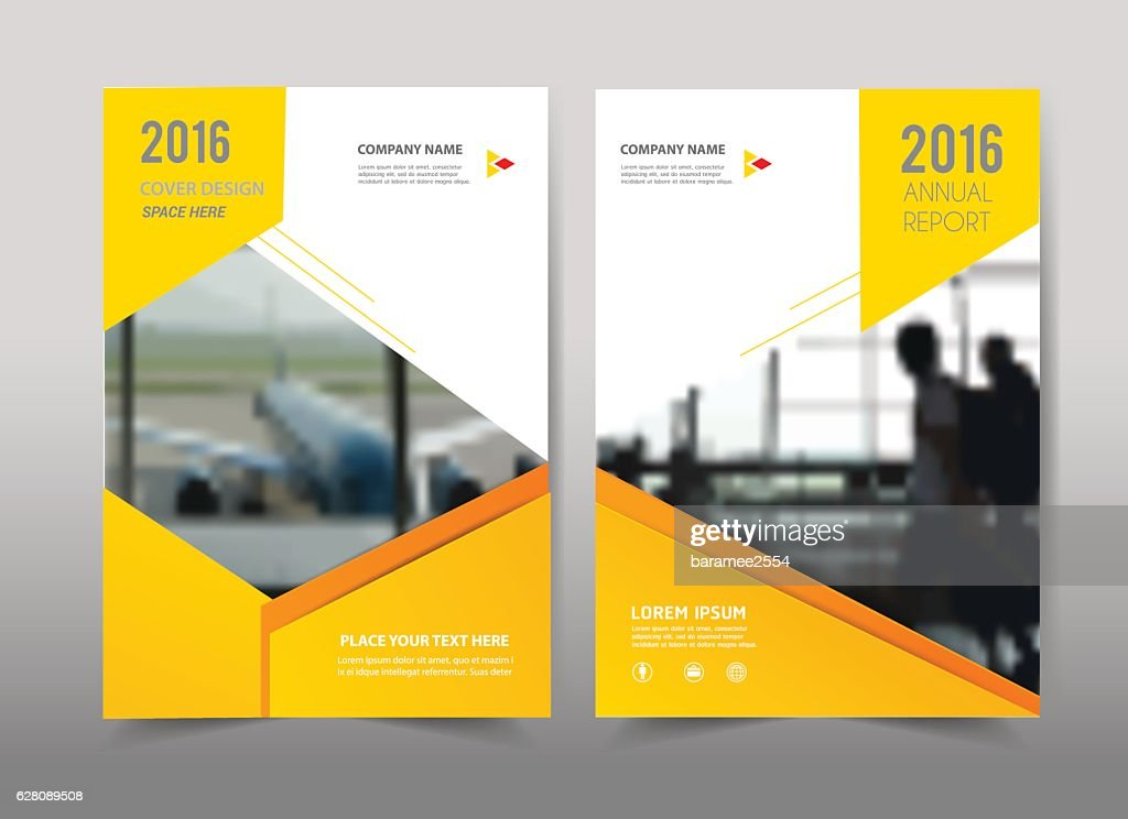 Yellow design on background.Brochure template layout.