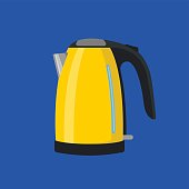 Yellow electric kettle