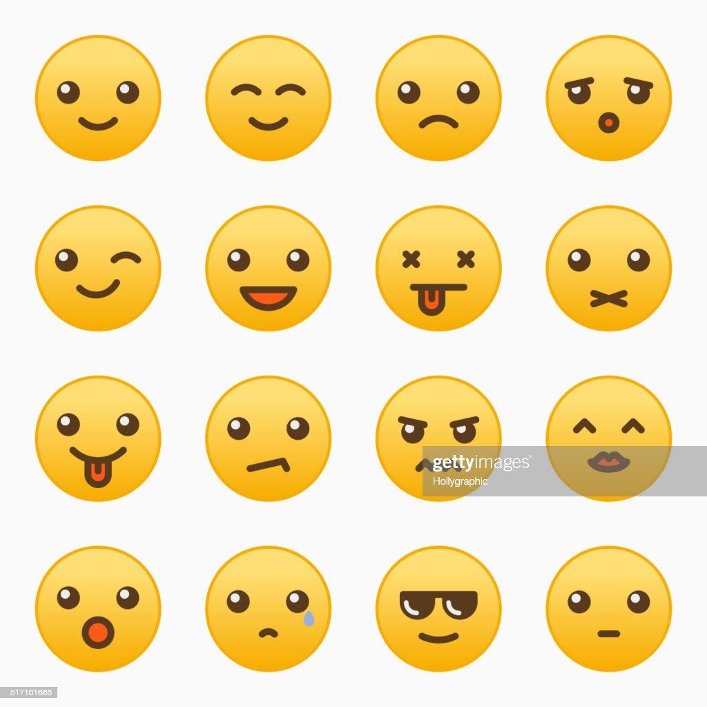 Yellow emoticons set